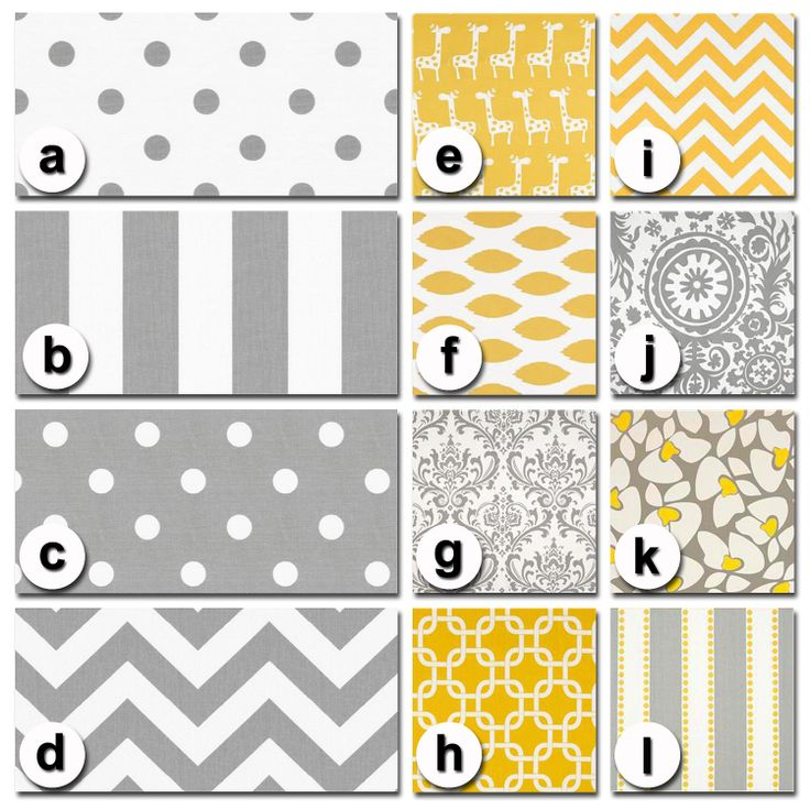 Custom Crib Bedding You Design   Bumper and Bedskirt in Gray and Yellow Premier. $229.00, via Etsy.