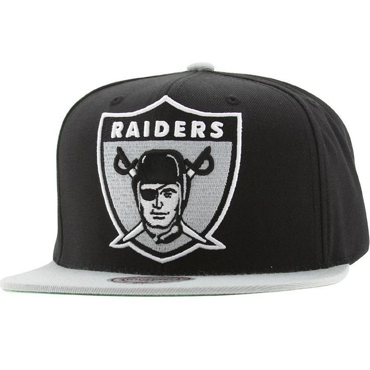 Mitchell And Ness Oakland Raiders NFL XL Logo Snapback Cap (black / silver) NJ40Z-6RAIDEBKS - $26.00