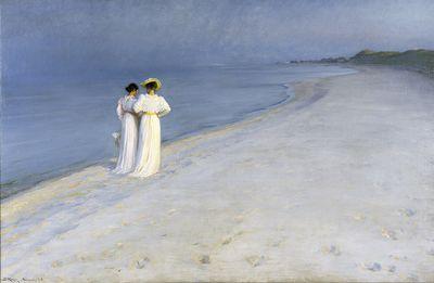 Summer evening on Skagen's Southern Beach | Peder Severin Krøyer | 1893 | Skagens Museum | CC BY
