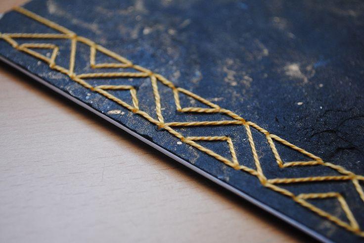 Japanese Stab Binding // Chevron Stitch