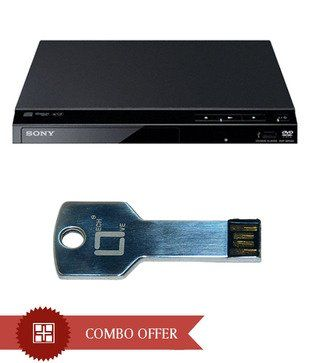 Sony SR320 Dvd Player With Live Tech Key Shape 4Gb Pen Drive