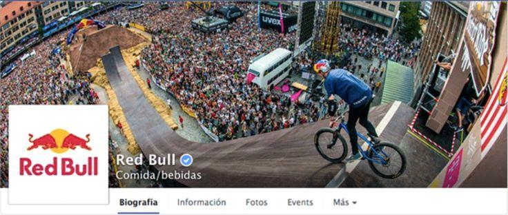 estrategia_de_redes_1  Comidas y bebidas     Red Bull  Esta marca de bebidas energéticas siempre nos sorprende. Excelente fotografía que logra transmitir la adrenalina y la pasión por los deportes extremos, valores característicos de la marca. La estrategia de marketing de contenidos de Red Bull es desde todo punto de vista, espectacular.