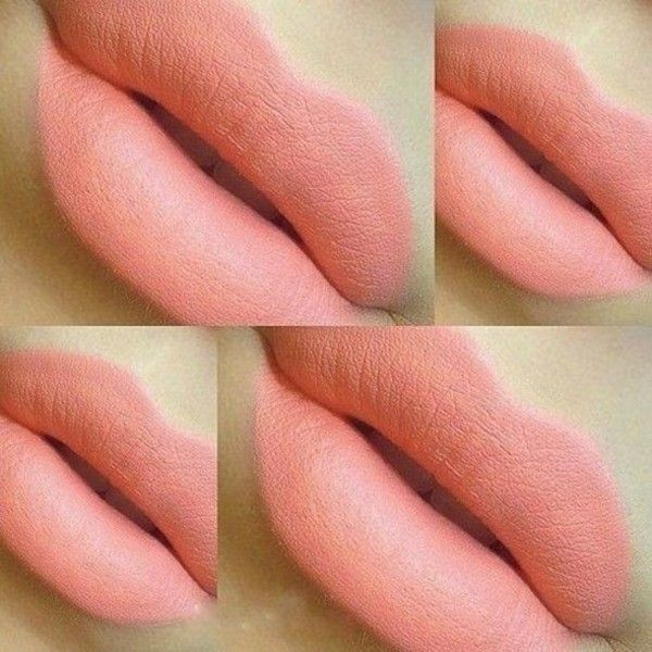 Make-up: peach light lipstick lips lipstick lighter coral mac... ❤ liked on Polyvore