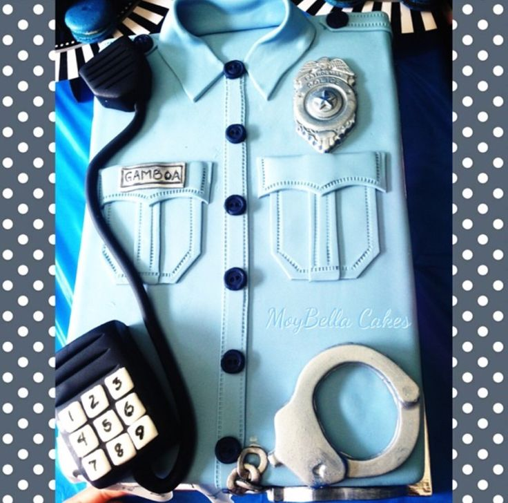 Police officer theme cake