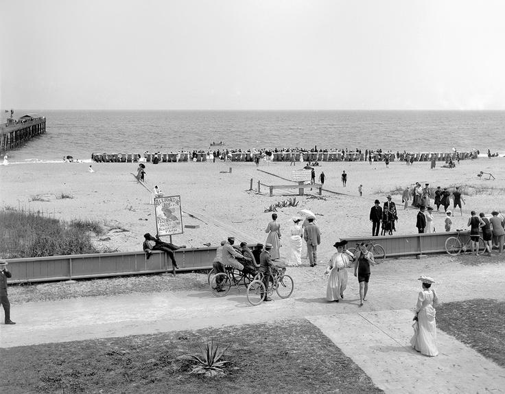 Пляж на Палм-Бич / Флорида, 1905 год