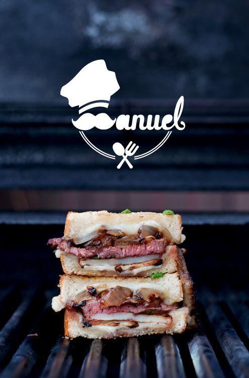Manuel Garcia Restaurant Logo by Esmaeel Gohari, via Behance