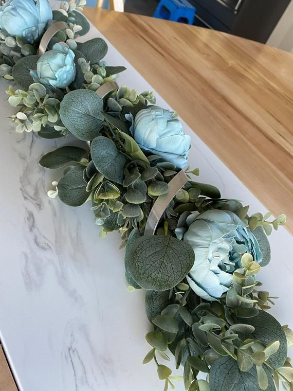 Table Centerpiece For Dining Room Coffee Table Decor Etsy In 2021 Decorating Coffee Tables Turquoise Table Table Centerpieces