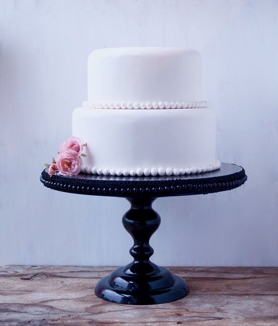 14 Inch Cake Stand Vintage Inspired Cake by RitaMarieWeddings