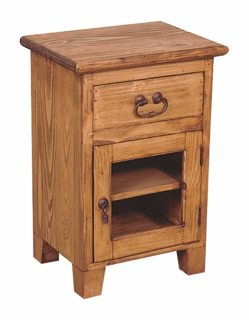 15 best rustic nightstands images on pinterest rustic for Rustic nightstand ideas