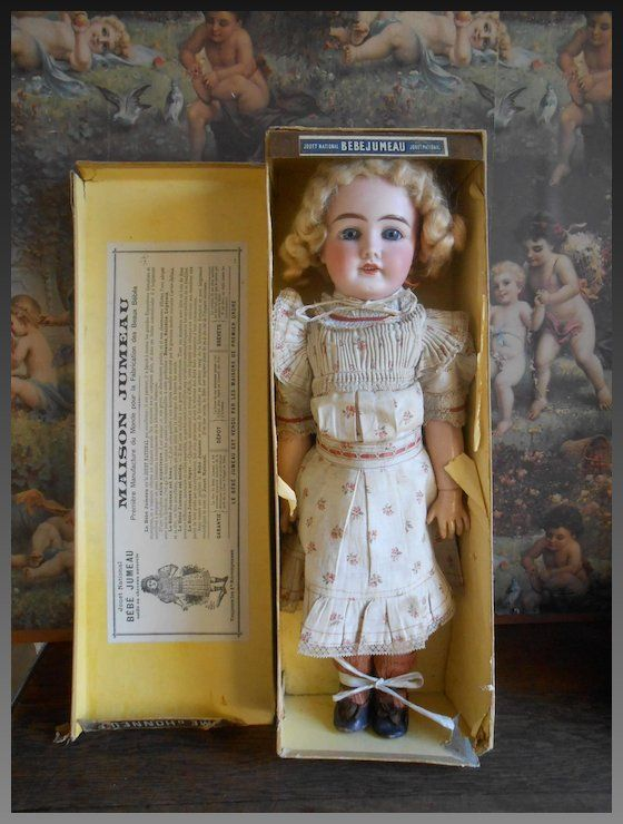 Antique (pre-1930) German Realistic Antique German Bisque Head Doll Candy Container All Original Clothes