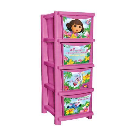"""Little Angel Комод для детской комнаты """"Даша путешественница"""" 335мм, Little Angel, розовый  — 2940р.  Комод для детской комнаты """"Даша путешественница"""" 335 мм, Little Angel, розовый ‒ это детская мебель от отечественного производителя . Комод изготовлен из экологически безопасного материала ‒ полипропилена, который обеспечивает легкость конструкции, прочность, устойчивость к физическим и химическим воздействиям. Окраска комода обладает высокой устойчивостью цвета к внешним воздействиям. Комод…"""