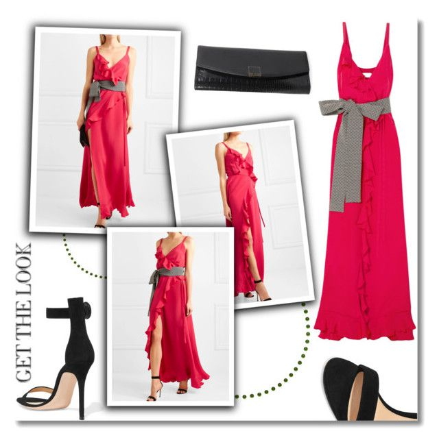 """Pink dress!!!"" by tatajrj ❤ liked on Polyvore featuring Gianvito Rossi, Ted Baker and Racil"