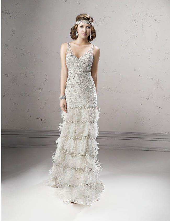 The Stunning New Sottero And Midgley Autumn Collection 2014 Is Here Flapper Wedding DressesGatsby
