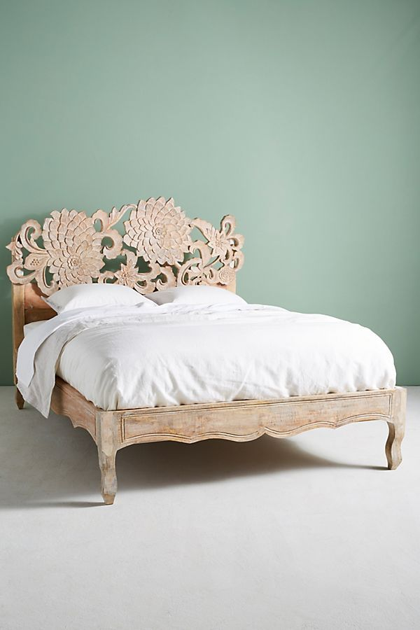 Hand Carved Lotus Bed Furniture Bed Bed Frame