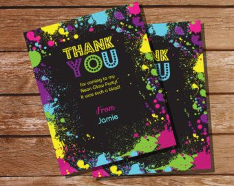 Neon Glow Party Theme Invitation Instantly by SunshineParties