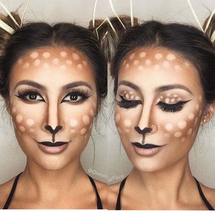 Easy deer makeup                                                                                                                                                     More