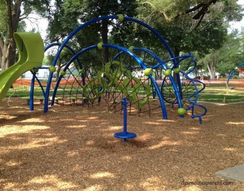 American Legion Park in West Des Moines offers a playground and a spray ground
