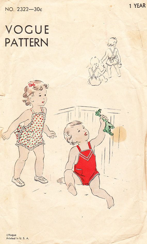 Vintage 1930 S Brother And Sister Romper Or Sunsuit For