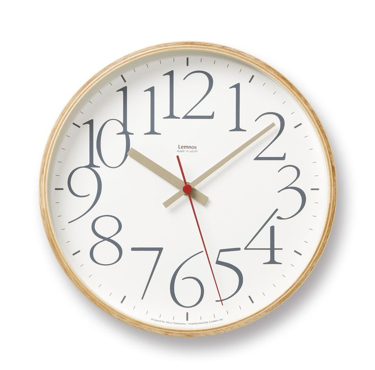 AY Wall Clock in White design by Lemnos