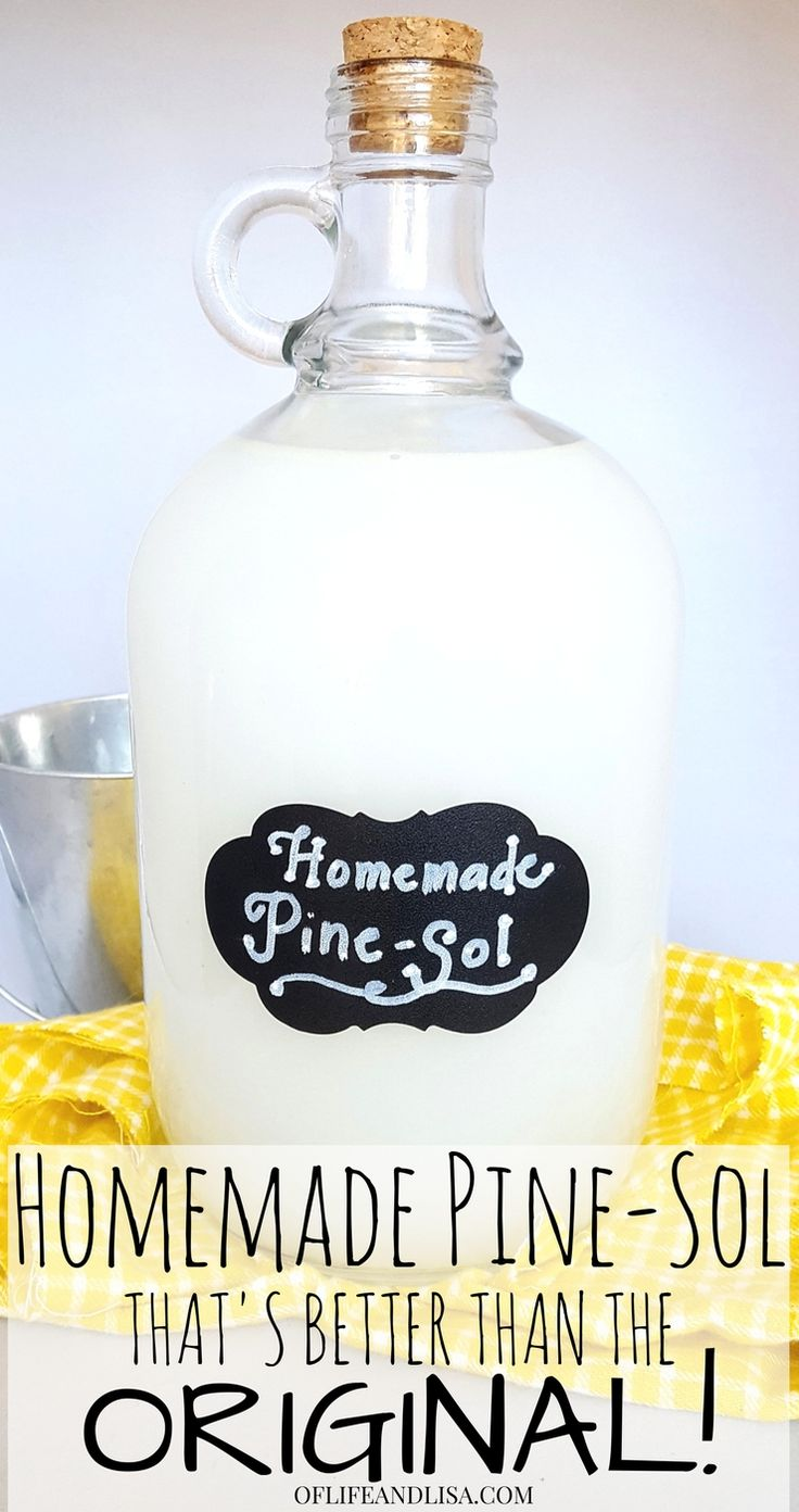 Here's an amazing DIY cleaner recipe for homemade Pine-Sol and it's amazing! It's smells incredible and is made with all natural ingredients. #home #cleaning #diy #essentialoils