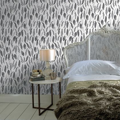 This Graham Brown Feather Your Nest Wallpaper Was Designed By The Winner Of Our 2013