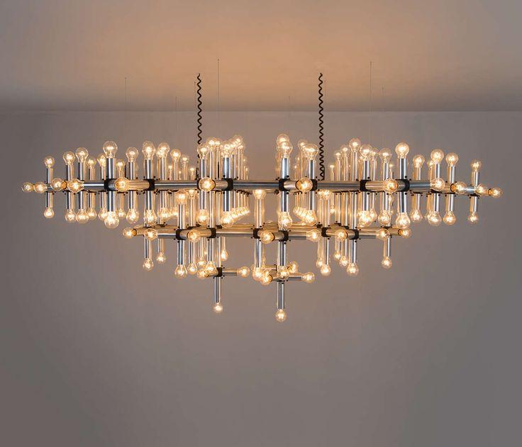 Robert Haussmann 'Lichtstruktur' Chandelier, Switzerland, 1960's