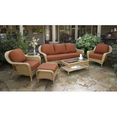 """Lexington 6 Piece Seating Group Fabric Color: Monserrat Sangria, Finish: Mojave by Tortuga Outdoor. $2199.00. LEX-652-M MONS Fabric Color: Monserrat Sangria, Finish: Mojave Features: -Outdoor all weather wicker -unlike natural wicker, all weather wicker is is stain, water, UV, crack and split resistant.-Powder coated aluminum frames.-100pct Spun polyester cushions.-Mildew and fade resistant fabric.-Heavy, 1/4"""" clear tempered glass table tops.-Clear, tempered glass top table.-Cl..."""