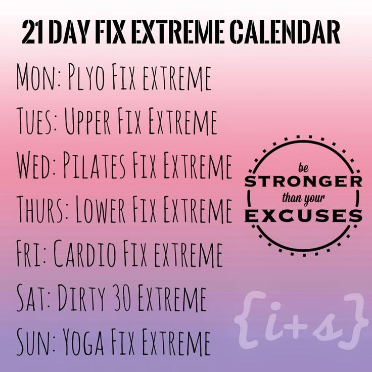 21 Day Fix Extreme | 21 Days, Workout Calendar and 21 Day Fix