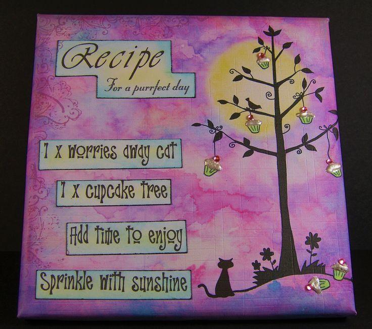 Designed by Allison Hugill using Little Claire Cupcake Cat digi stamp.