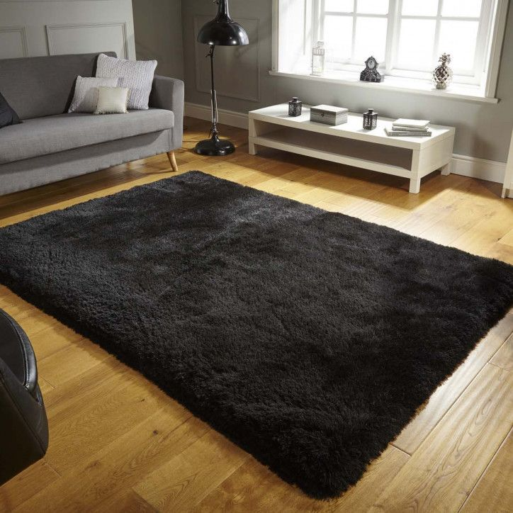 Super Thick Black Polyester Shaggy Rug Pearl Kukoon Rugs In Living Room Shaggy Rug Moroccan Living Room