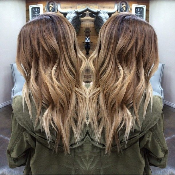 Long Choppy Haircut With Blonde Balayage