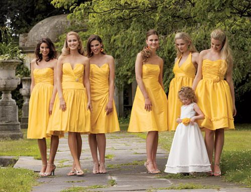 142 best images about Yellow Bridesmaids Dresses on Pinterest ...
