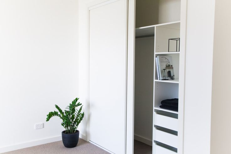 Shepperd Building Company. Custom made robe shelving in bedrooms include drawers for additional storage as standard in our homes.