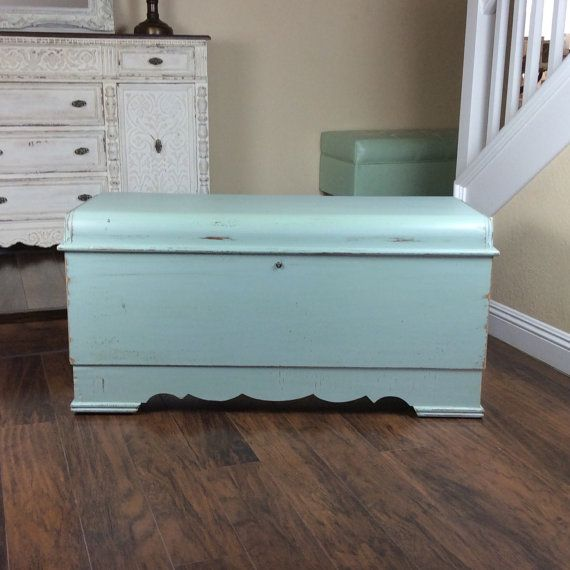 LANE CEDAR CHEST Large Chest Beach Cottage by shabbyshores on Etsy