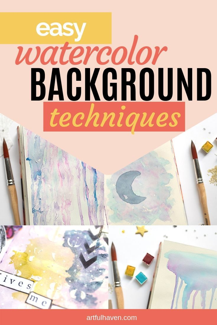 Art Journal Watercolor Background Techniques 5 Easy Ideas