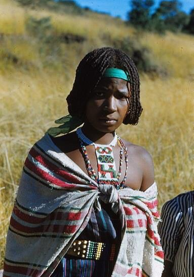 """Beauty of Zululand. Picture from 1950's by Osmo Vartiainen. Jewelry is called """"loveletter""""."""