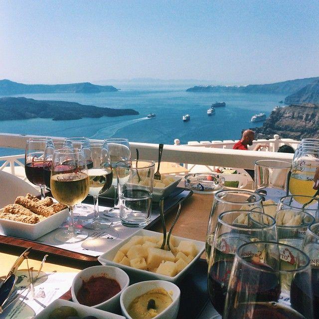 There is nowhere more beautiful than here to taste #Santorini's #wines! Photo credits: @_danikaa