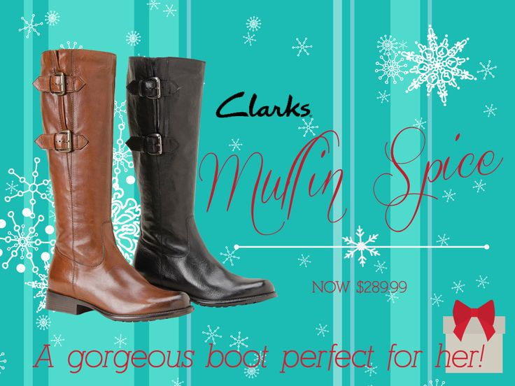 Hey Ladies! You've gotta love these Clarks Mullin Spice boots! They will be a perfect addition to your closet!