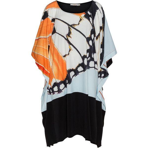 Mat Black / Orange Plus Size Graphic print midi dress (2 270 UAH) ❤ liked on…