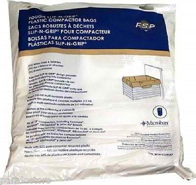 KitchenAid 18″ TRASH COMPACTOR BAGS 15/ea White 4318938