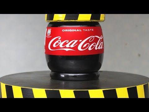 さてどうなる? 100tの油圧プレスでペットボトルのコカコーラを潰してみた - http://naniomo.com/archives/9033