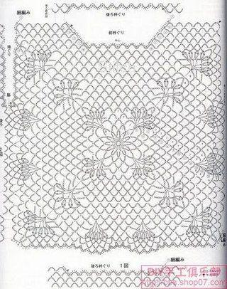 Kira scheme crochet: blouse
