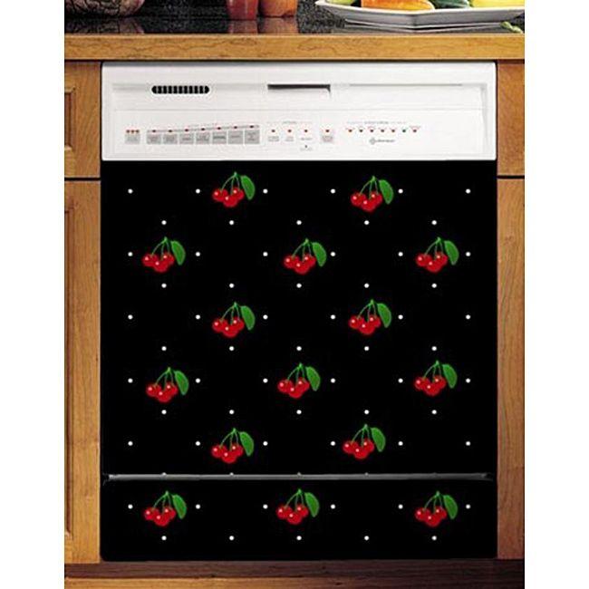 appliance artu0027s cherries u0026 polka dots dishwasher cover by appliance art - Cheap Dishwashers