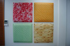 Printed Acoustic Polyester Panels for home interior design