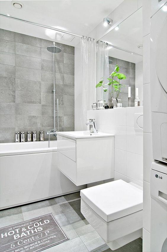 Bildresultat för litet badrum tvättmaskin anslutning