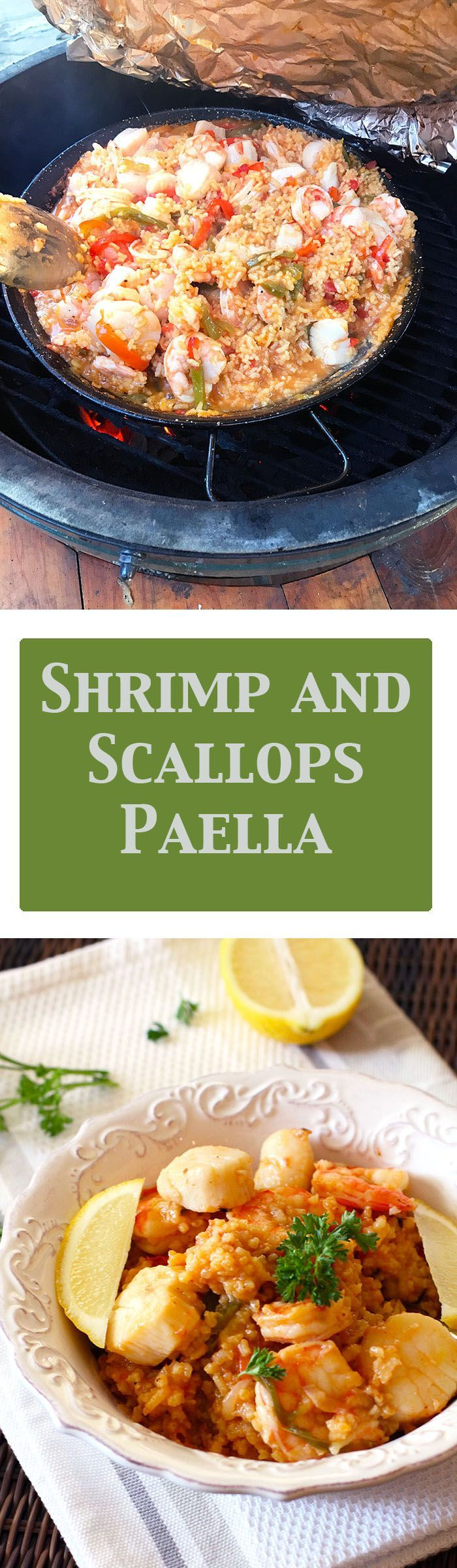 shrimp and scallops paella shrimps dish suebee homemaker veggies ...