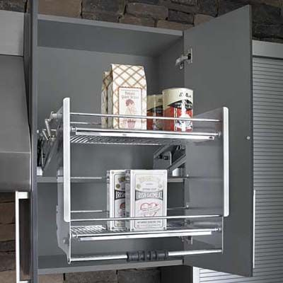 Kitchen cabinets shelves storage and metal rack Kraftmaid closet systems