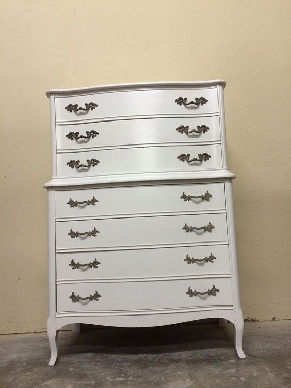 Chest on Chest Dixie Dresser French by ProvincialButFrench on Etsy