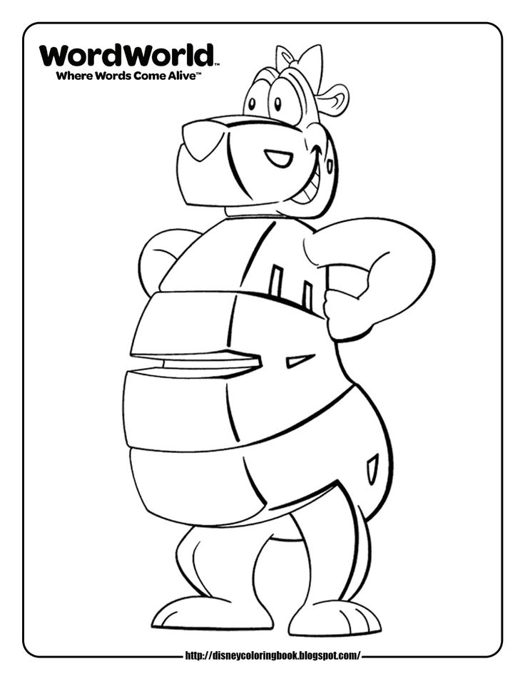 Word world word world bear coloring