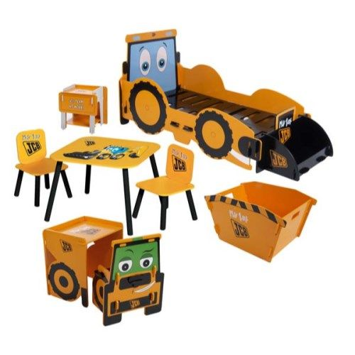 JCB Digger Bedroom Set with First Bed - without mattress  http://furniture123.co.uk/kids-klub-jcb-digger-bedroom-set-with-first-bed_20357